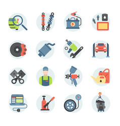 car service repair parts icons vehicle and vector image