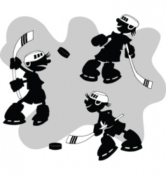 cartoon hockey vector image vector image