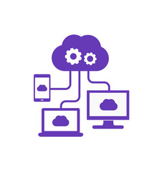 Cloud computing technologies icon vector