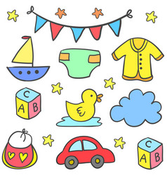 Collection stock of baby element set vector