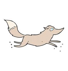 Comic cartoon wolf running vector