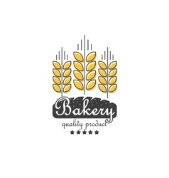 Ears of cereals bakery logo concept for vector image