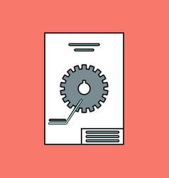 Flat icon design collection car gear scheme vector
