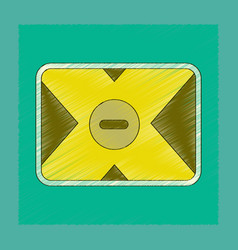 Flat shading style icon removable hard drive vector