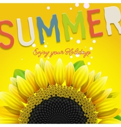 Floral summer background with sunflower vector