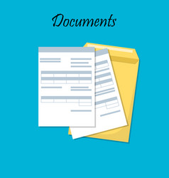 for business documents vector image vector image