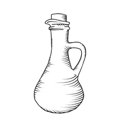 Glass carafe vector