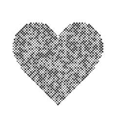 Heart halftone design elements graphic vector