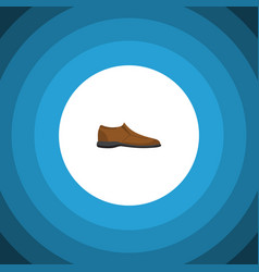 isolated man shoe flat icon male footware vector image vector image