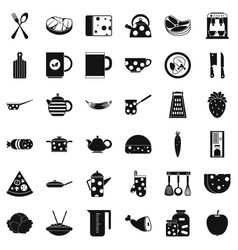 preparation icons set simple style vector image vector image