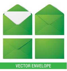 realistic green envelope mockups vector image vector image