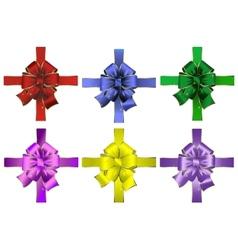 Set of abstract bows vector image
