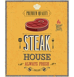 Steak house2 vector image vector image