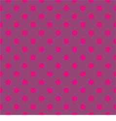 Tile pattern pink polka dots on violet background vector image vector image