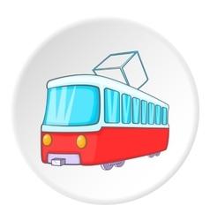 Tram icon isometric style vector