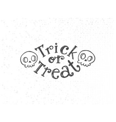 Trick or treat sketch vector