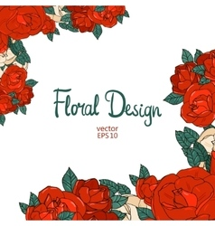 Vintage border with roses vector