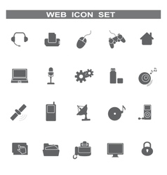 Web icons for business and communication vector