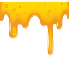 Yellow viscous liquid vector