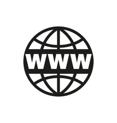 The www icon seo and browser development symbol vector