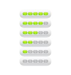 progress bar from green ovals vector image