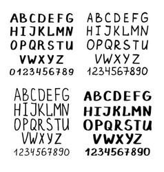 Handwriting font or calligraphy latin alphabet vector