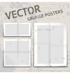 Grunge posters vector
