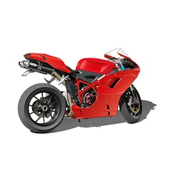 Red super sports motorbike vector