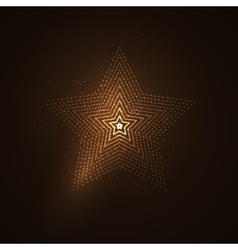 3D illuminated star shape of glowing particles vector image vector image