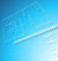 Architechural technical drawing vector