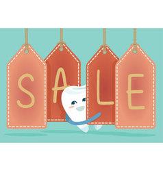 Sale of dental vector image