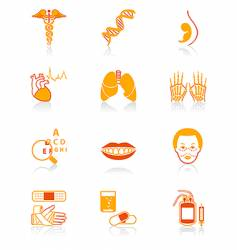 medicine icons  juicy series vector image