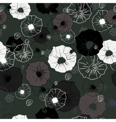 Seamless ornate decorative floral pattern vector