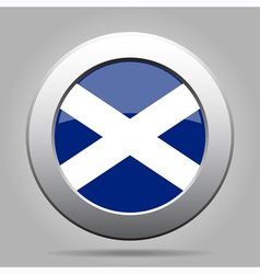 Metal button with flag of scotland vector