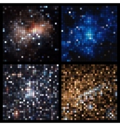 Abstract square pixel mosaic vector