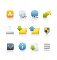 Icon set web and internet vector