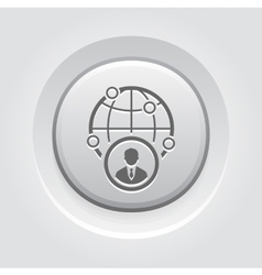 Business representative icon vector