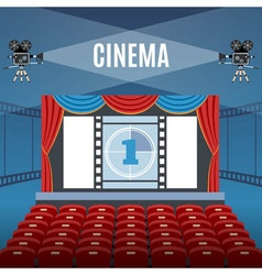 Cinema hall background vector