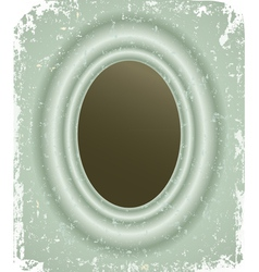 Photo frame on grunge retro background vector image