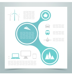 Abstract 3 circle links infographic 2 vector
