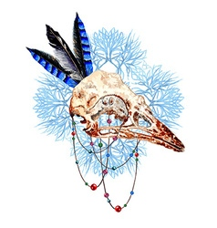 Bird Skull5 vector image