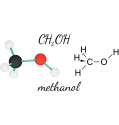 Ch3oh methanol molecule vector