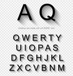 Classi style font with soft shadow isolated vector