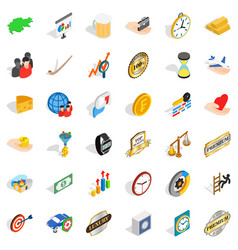 Coin icons set isometric style vector