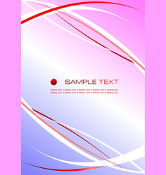 Corporate business template red- blue background vector