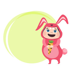 Cute girl dressed in carnival costume rabbit vector