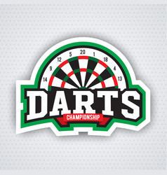 Darts porting logo and leisure design vector