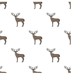 Deer with big hornsanimals single icon in cartoon vector