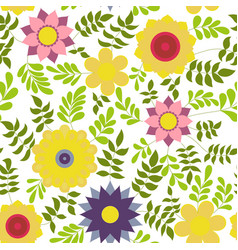 flower colorful on white vector image vector image