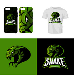 Furious snake sport club isolated logo vector